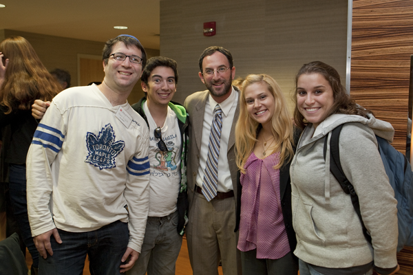 Students & Prof at Mirowski Event