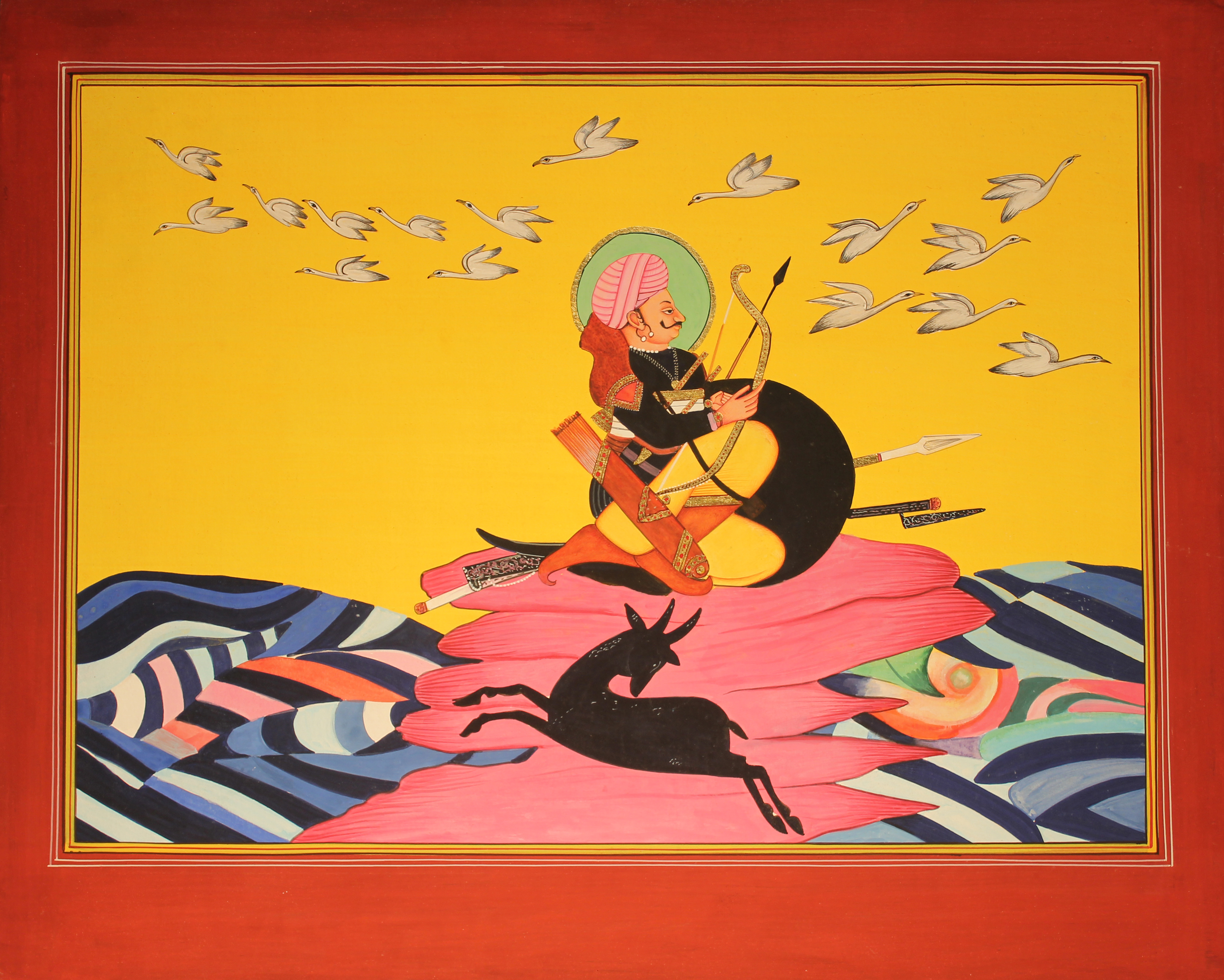 Jawun Dream Painting is a hand-painted Indian miniature used in Rhett Grumbkow's documentary, Speaking Stones & Singing Stones. Grumbkow's film tells the story of Professor Jayasinhji Jhala's ancestral homeland.