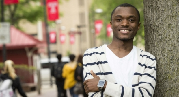 Senior criminal justice major Wilfred Beaye will attend Harvard Law School this fall.