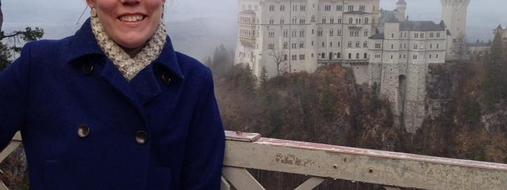 Maura Smith outside Neuschwanstein Castle in Germany.