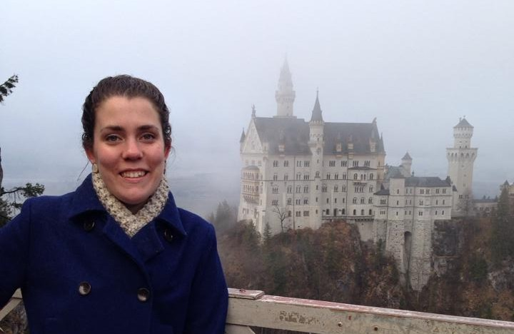 Maura Smith outside Neuschwanstein Castle in Germany.